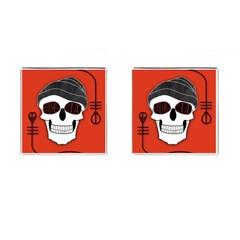 Poster Twenty One Pilots Skull Cufflinks (square) by Onesevenart