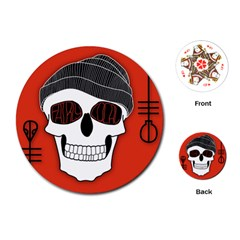 Poster Twenty One Pilots Skull Playing Cards (round)  by Onesevenart