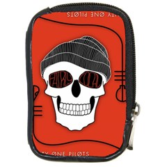 Poster Twenty One Pilots Skull Compact Camera Cases by Onesevenart