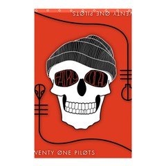Poster Twenty One Pilots Skull Shower Curtain 48  X 72  (small)  by Onesevenart