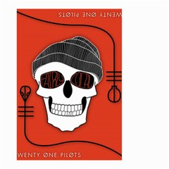 Poster Twenty One Pilots Skull Small Garden Flag (two Sides) by Onesevenart