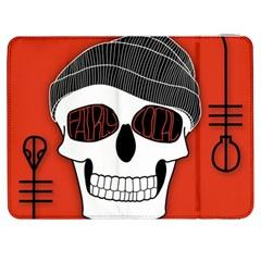 Poster Twenty One Pilots Skull Samsung Galaxy Tab 7  P1000 Flip Case by Onesevenart