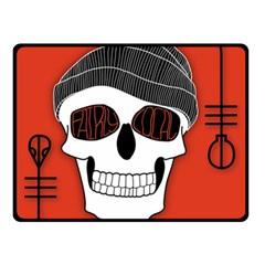 Poster Twenty One Pilots Skull Double Sided Fleece Blanket (small)  by Onesevenart