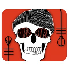 Poster Twenty One Pilots Skull Double Sided Flano Blanket (medium)  by Onesevenart