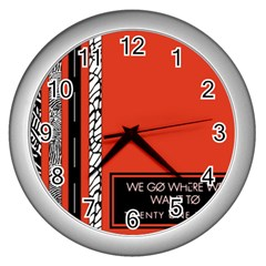 Poster Twenty One Pilots We Go Where We Want To Wall Clocks (silver)  by Onesevenart