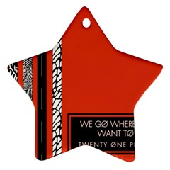 Poster Twenty One Pilots We Go Where We Want To Star Ornament (two Sides) by Onesevenart