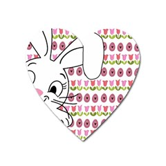 Easter bunny  Heart Magnet