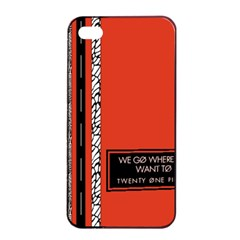 Poster Twenty One Pilots We Go Where We Want To Apple Iphone 4/4s Seamless Case (black) by Onesevenart
