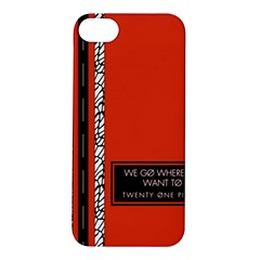 Poster Twenty One Pilots We Go Where We Want To Apple Iphone 5s/ Se Hardshell Case by Onesevenart