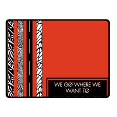 Poster Twenty One Pilots We Go Where We Want To Double Sided Fleece Blanket (small)  by Onesevenart