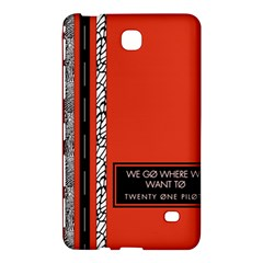 Poster Twenty One Pilots We Go Where We Want To Samsung Galaxy Tab 4 (7 ) Hardshell Case  by Onesevenart