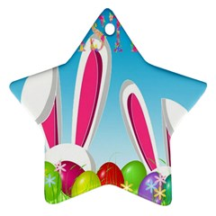 Easter Bunny  Star Ornament (two Sides) by Valentinaart