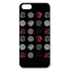 Digital Art Dark Pattern Abstract Orange Black White Twenty One Pilots Apple Seamless Iphone 5 Case (clear) by Onesevenart