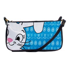 Easter Bunny  Shoulder Clutch Bags by Valentinaart
