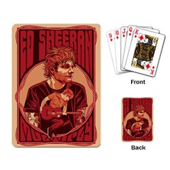 Ed Sheeran Illustrated Tour Poster Playing Card by Onesevenart