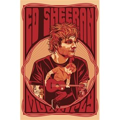 Ed Sheeran Illustrated Tour Poster 5 5  X 8 5  Notebooks by Onesevenart