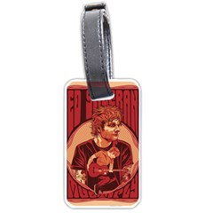 Ed Sheeran Illustrated Tour Poster Luggage Tags (Two Sides) by Onesevenart