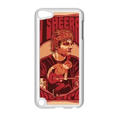 Ed Sheeran Illustrated Tour Poster Apple iPod Touch 5 Case (White) by Onesevenart