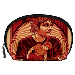 Ed Sheeran Illustrated Tour Poster Accessory Pouches (large)  by Onesevenart