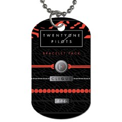 Twenty One Pilots Event Poster Dog Tag (two Sides) by Onesevenart