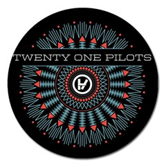 Twenty One Pilots Magnet 5  (round) by Onesevenart