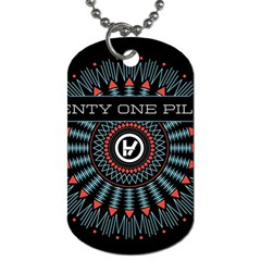 Twenty One Pilots Dog Tag (two Sides) by Onesevenart