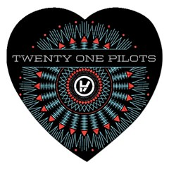 Twenty One Pilots Jigsaw Puzzle (heart) by Onesevenart