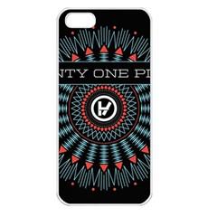 Twenty One Pilots Apple Iphone 5 Seamless Case (white) by Onesevenart