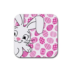 Easter Bunny  Rubber Square Coaster (4 Pack)  by Valentinaart
