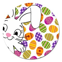 Easter Bunny  Magnet 5  (round) by Valentinaart