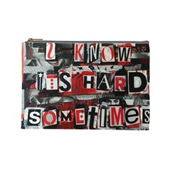 Top Lyrics Twenty One Pilots The Run And Boys Cosmetic Bag (large)  by Onesevenart