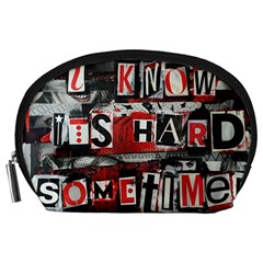 Top Lyrics Twenty One Pilots The Run And Boys Accessory Pouches (large)  by Onesevenart