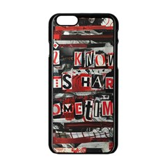 Top Lyrics Twenty One Pilots The Run And Boys Apple iPhone 6/6S Black Enamel Case