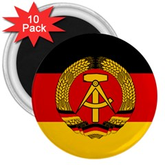Flag of East Germany 3  Magnets (10 pack)