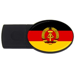Flag Of East Germany Usb Flash Drive Oval (2 Gb) by abbeyz71