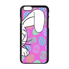 Easter Bunny  Apple Iphone 6/6s Black Enamel Case by Valentinaart