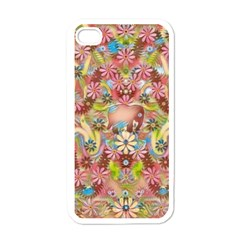 Jungle Life And Paradise Apples Apple Iphone 4 Case (white) by pepitasart