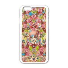 Jungle Life And Paradise Apples Apple Iphone 6/6s White Enamel Case by pepitasart
