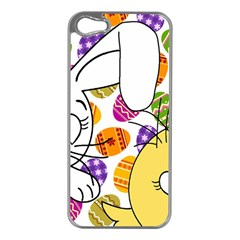 Easter Bunny And Chick  Apple Iphone 5 Case (silver) by Valentinaart