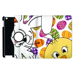 Easter Bunny And Chick  Apple Ipad 3/4 Flip 360 Case by Valentinaart
