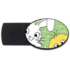 Easter Bunny And Chick  Usb Flash Drive Oval (4 Gb) by Valentinaart