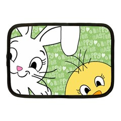 Easter Bunny And Chick  Netbook Case (medium)  by Valentinaart