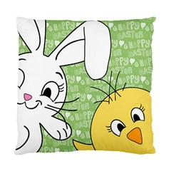 Easter Bunny And Chick  Standard Cushion Case (one Side) by Valentinaart