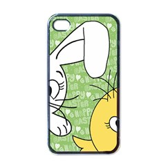 Easter Bunny And Chick  Apple Iphone 4 Case (black) by Valentinaart
