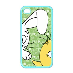 Easter Bunny And Chick  Apple Iphone 4 Case (color) by Valentinaart