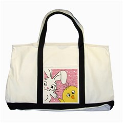 Easter bunny and chick  Two Tone Tote Bag by Valentinaart