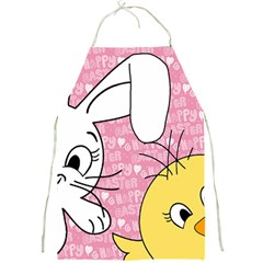 Easter Bunny And Chick  Full Print Aprons by Valentinaart