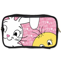 Easter Bunny And Chick  Toiletries Bags by Valentinaart