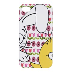 Easter Bunny And Chick  Apple Iphone 4/4s Premium Hardshell Case by Valentinaart