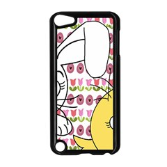Easter Bunny And Chick  Apple Ipod Touch 5 Case (black) by Valentinaart